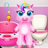 Rainbow Little Unicorn Daily Caring icon