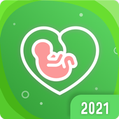 Pregnancy tracker: calendar with contraction timer icon