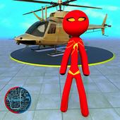 Rope Hero 2021: Stickman Rope Hero City Crime icon