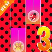 Piano Ladybug Noir Tiles 2020 icon