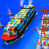 Sea Port: Ship Transport Tycoon & Business Game icon