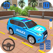 US Police Spooky Jeep Parking Simulator New Games icon