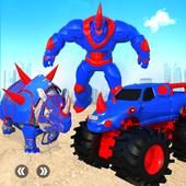 Rhino Robot Monster Truck Transform Robot Games icon