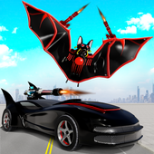 Flying Bat Robot Transform Car Robot Games 2021 icon