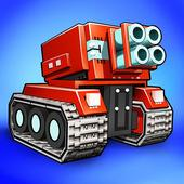 Blocky Cars - pixel shooter, tank wars icon