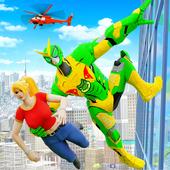 Frog Ninja Rope Hero Robot: Gangster Crime City icon