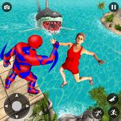 Superhero robot game police hero: rescue mission icon