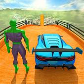 Superhero Car Games GT Racing Stunts - Game 2021 icon