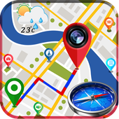 GPS Map Camera - Compass & Navigation icon