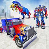 Police Truck Robot Game – Dino Robot Car Games 3d icon