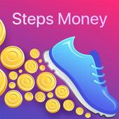 Steps Money icon