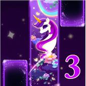 Magic Unicorn Piano tiles 3 - Music Game icon