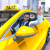 Crazy Taxi Simulator: Yellow Cab Driving Game 2021 icon