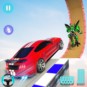 Flying Car Racing Stunt: Car Transform Robot Games icon