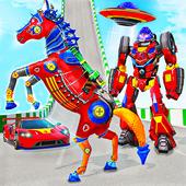 Ramp Car Robot Transform Horse Robot Games 2021 icon