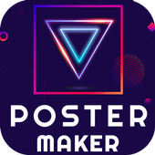Poster Maker 2021 Flyer, Banner Ad graphic design icon