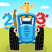 The Blue Tractor: Fun Learning Games for Toddlers icon