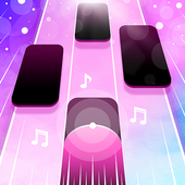 Magic Pink Tiles: Piano Game icon