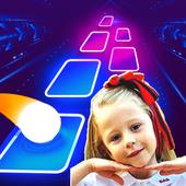 Nastya And Dad Dancing Tiles Hop icon