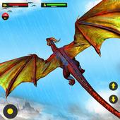 Flying Dragon City Attack- Dragon Games 2021 icon