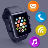 Smartwatch Bluetooth Notifier: sync watch & wear icon